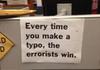 dont let errorists win