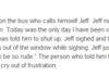 Oh Jeff . . .