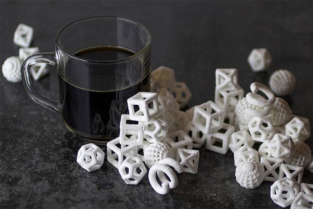 3D-printed sugar. . 3D-printed sugar