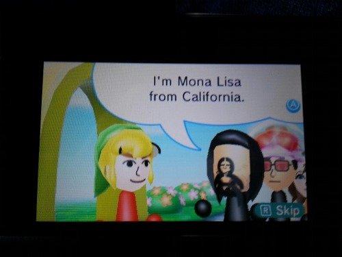 calafornya. . I' m Minna Lisa from California.