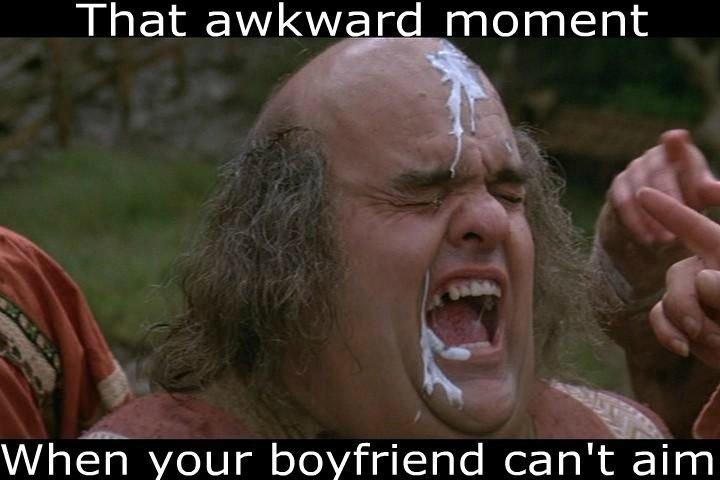 Can't aim. .. Ha, Gaaay awkward moment boyfriend BF aim