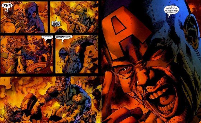 Captain America's best. France. captain Murica