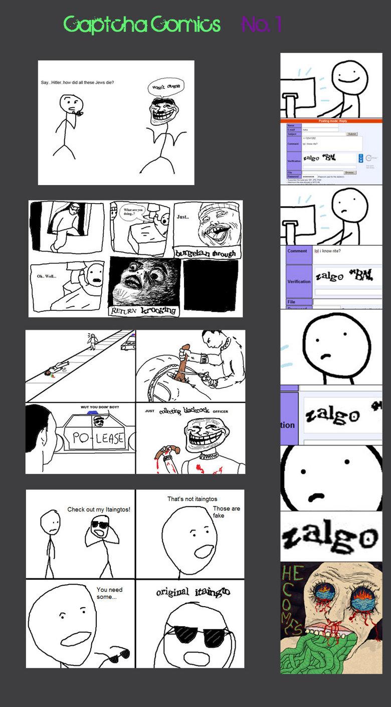 Captcha Comic. My first captcha comic, hope you guys like =]. Star my Check nut my captcha comic th