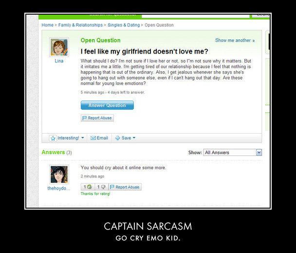 captian sarcasm > captain obvious. OC. Open Question Show me another 1 What should Ido? Int not sure tfl love her or mat. so I' m not sure uhy it : s Elm n me a Captain Obvious