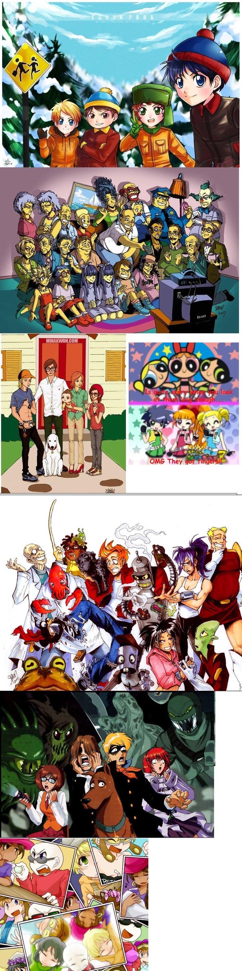 Cartoons as anime. .. Fixed. cartoons Anime