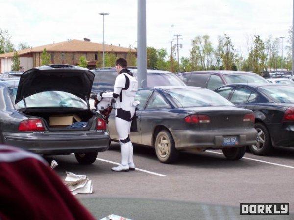 Casual Stormtrooper. is casual. casual stormtrooper