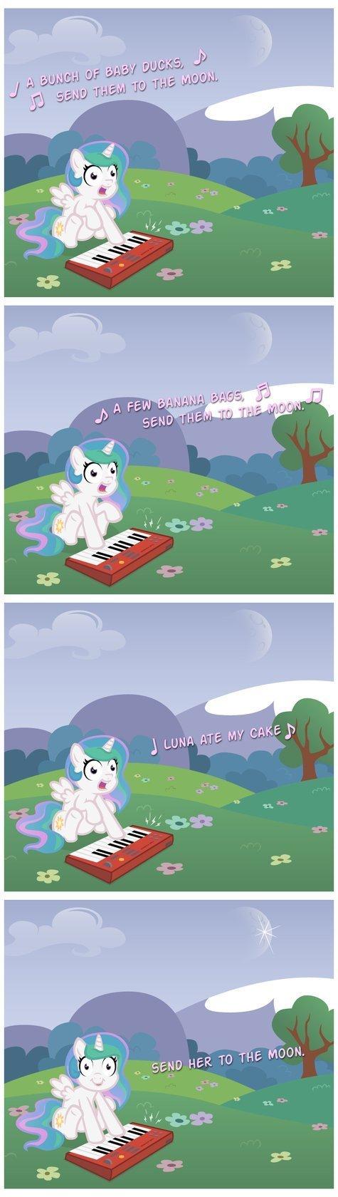 Celestia is a sociopath. broccolimeansfun.deviantart.com/art/P.... ponies comic