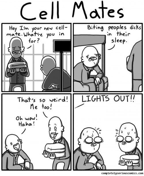 cell mates. . comic