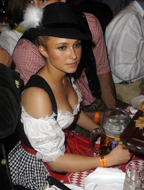 Cheerleader at Oktoberfest. heroes ftw man. pew pow