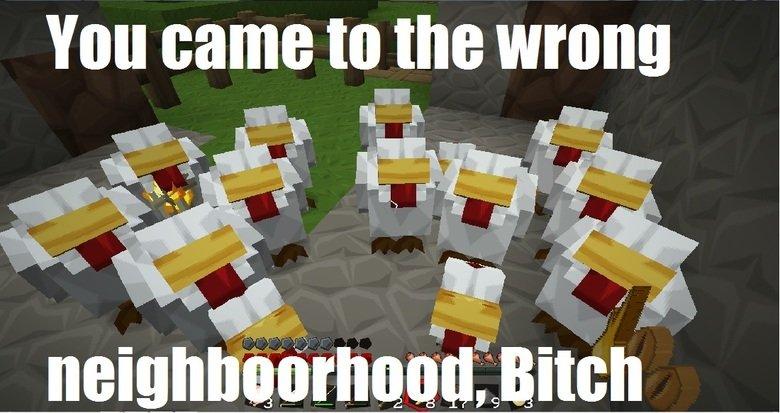 Chick gang. I got cornered by some chicks . cornered Chicks