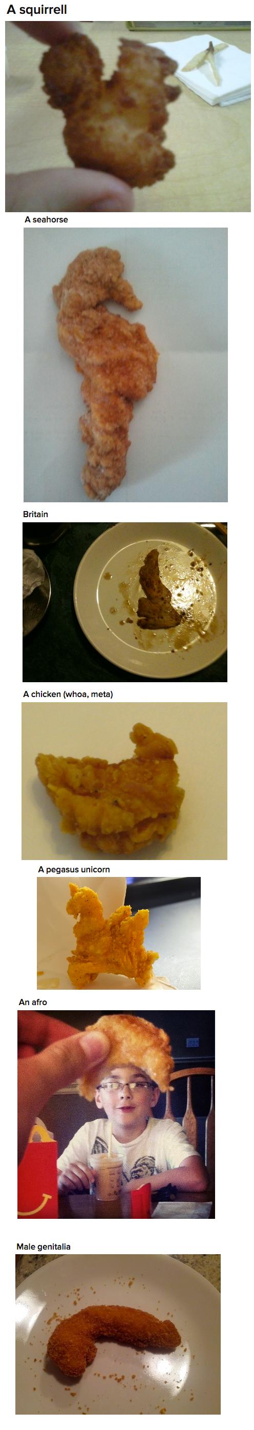 Chicken Nugger. .. And here's chicken head. Chicken Nugger And here's chicken head