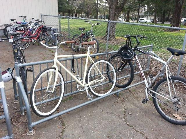 Child of a parking douchebag. he learns so quickly.. And even a hipster bike. asdasdasdasd