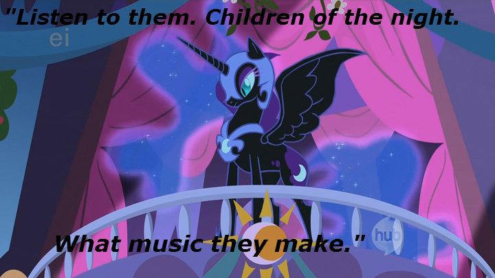 "children of the nightmare. ""I give you Countess Nightmare Moon."". dracula luna Moon night pony"