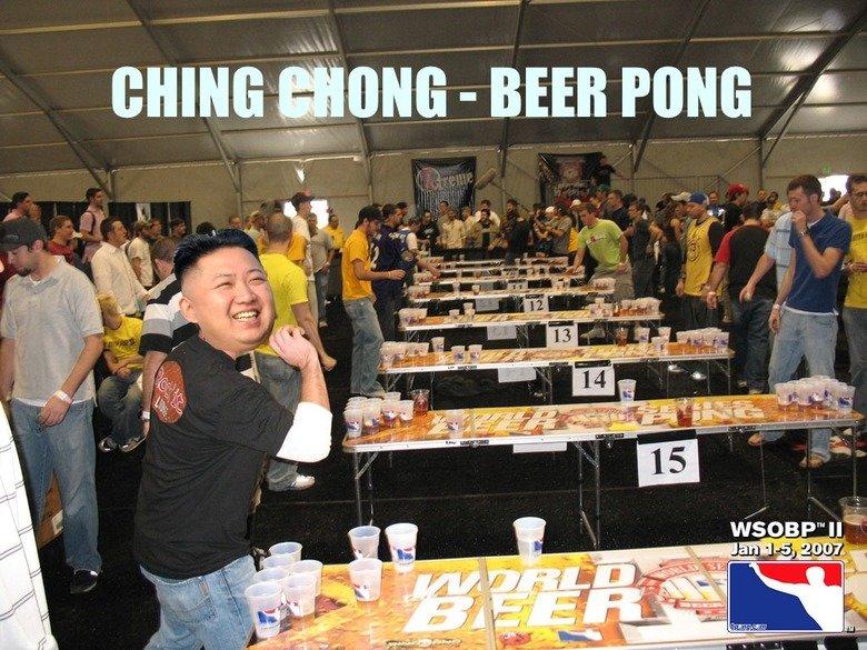 Ching Chong. CHING CHONG HARRO HARRO RAFF RAFF. kim jong UN north korea Beer Pong