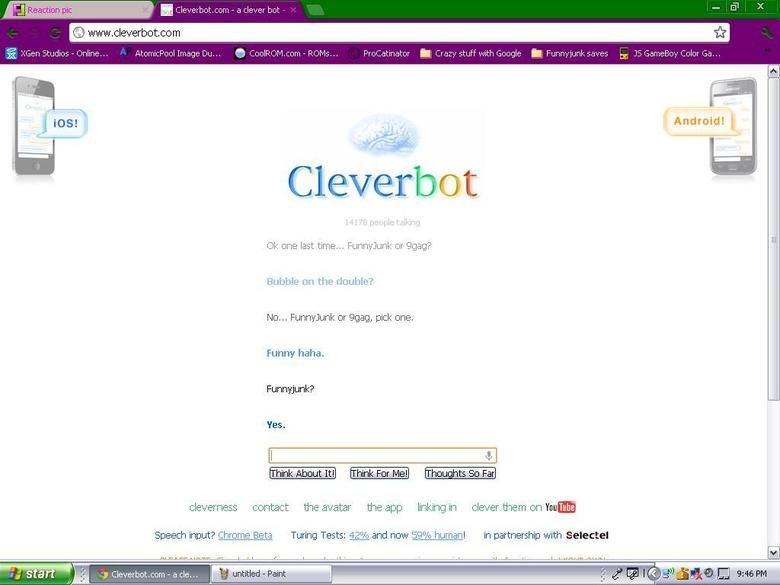 Cleverbot agrees. i lol'd. Cleverbot agrees i lol'd