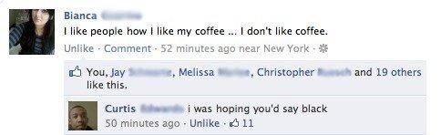 "coffee. . Bianca L _ i like people haw i like my coffee K.. like coffee., Unlike - Camment - 52 minutes age: near New' r' -ark . ' mmu, Jay b - e, Melissa I ""Mr coffee Bianca L _ i like people haw my K Unlike - Camment 52 minutes age: near New' r' -ark ' mmu Jay b e Melissa I ""Mr"