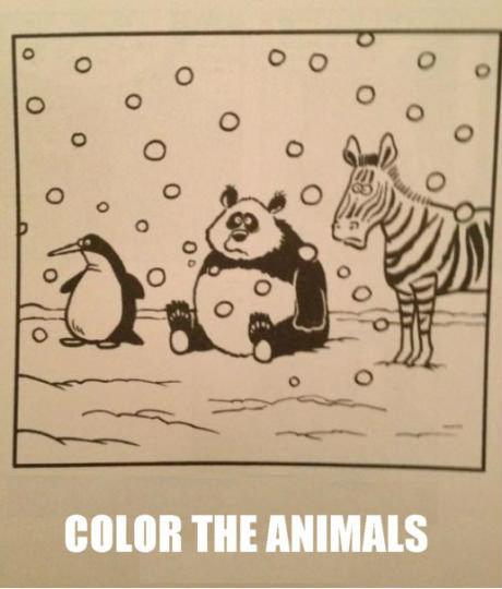 Colo(u)r the animals.. fak u buk. colour color Fucking animals