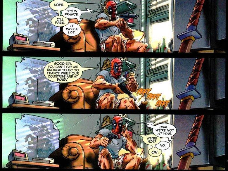 comics france funny deadpool wade wilson. comics france funny deadpool wade wilson marvel comics 1024x768 wallpaper from: . funny Raving Rabbids