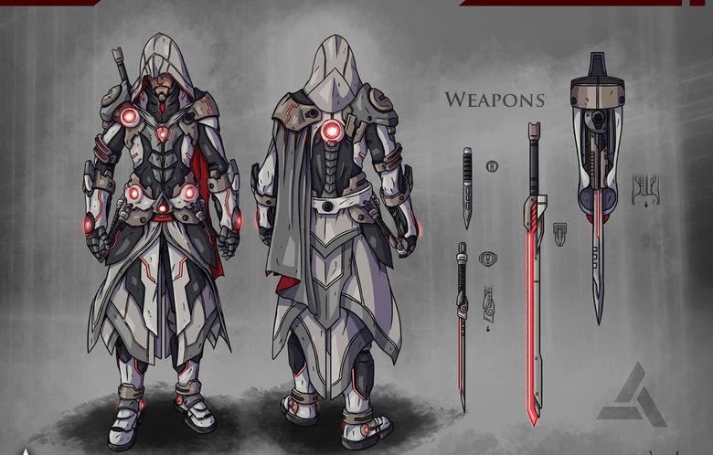 concept. .. Hispanic Assassin concept Hispanic Assassin
