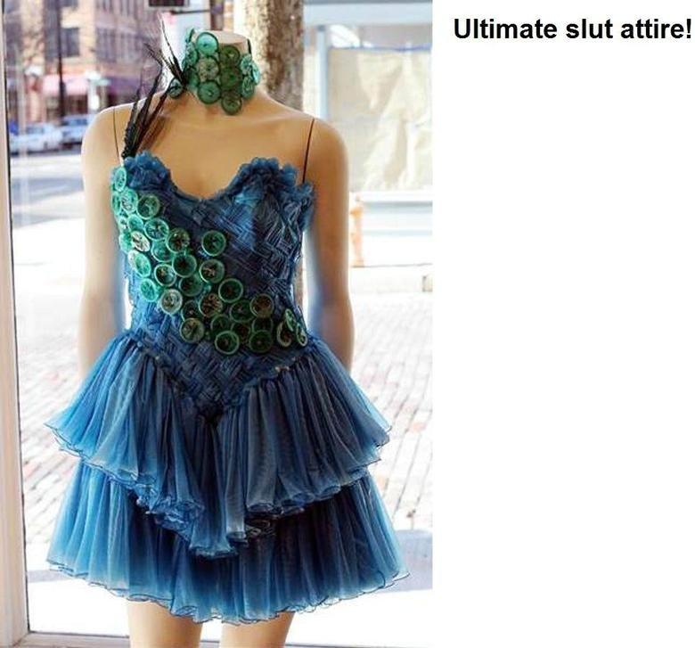 Condom dress!. Well alrighty then!. Condoms fashion slutty