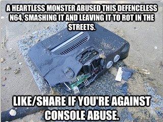 Console Abuse. . n mantras monsom NI um ' i. III Nintendo console