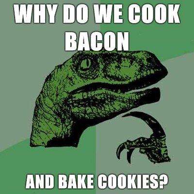 Cookies and Bacon. mmmm bacon. WHY BO WE BOBMIN Cookies and Bacon mmmm bacon WHY BO WE BOBMIN