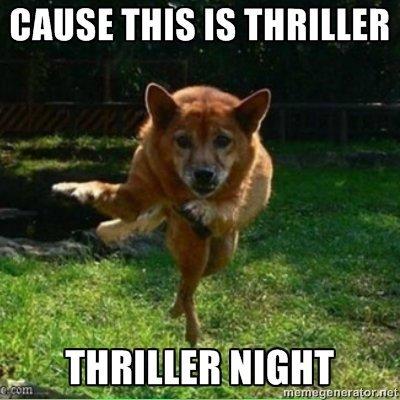 COS THIS IS THRILLER.. . Dogs thriller Zombie apocalypse funny Junk lmfao Jesus Pewdiepie shit bullshit lol