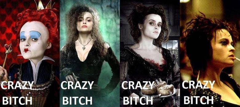 Crazy Bitch. Helena Bonham Carter, the crazy bitch in every movie.. BITCH s,' BITCH Crazy Bitch Helena Bonham Carter the crazy bitch in every movie BITCH s '