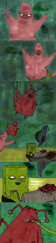 Creepy Bob. .. ummm wha o.0? spongebob patrick krabby gary TUNA hook