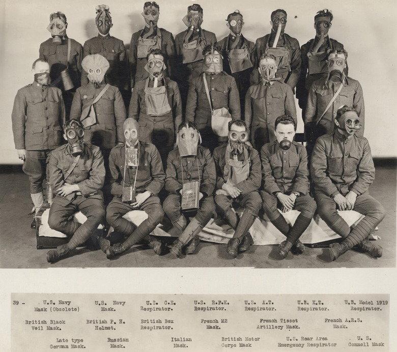Gas masks of world war 1. Some of them are pretty weird... Hank 'Oralia', British Blank: 36 type Germ: 15351:. iim!! Navy ant 1511 P. H. Helmet. Ru_ aahn. n Res ww1 gasmask
