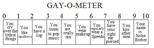 Gay.O.Meter. check out my other OC. Gay cry rainbows lisp pop Music Tan makeup speedo ear Pierced Kiss Men justin Bieber