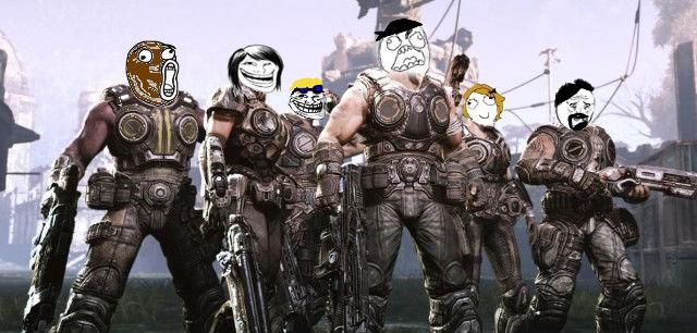 Gears of war memes. I love Gears of War. OC.. Wheres Carmine? Gears of War mem