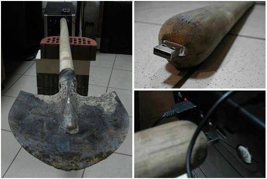 Genius. well yeah, effective.. 600TB shovel usb