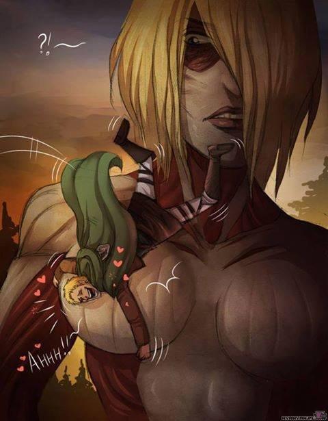 Get It Reiner. Hehehe boobs. Attack on Titan