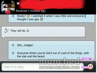 Gimli... .. I'm a girl without a beard :3 blackberry