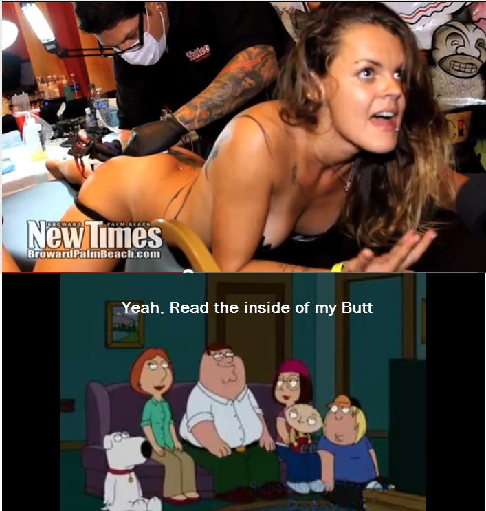 Girl gets Butthole Tattoo. .. So wait, is it INSIDE of her anus, or what? Girl gets Butthole Tattoo So wait is it INSIDE of her anus or what?