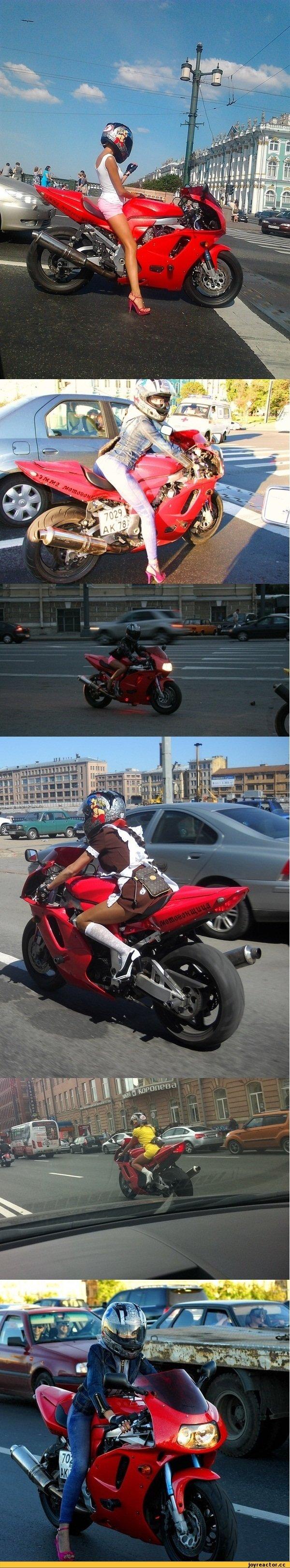 girl riding big red thing. fap fap fap fap.. Damn that girl makes that bike look good. fap fap fap fap
