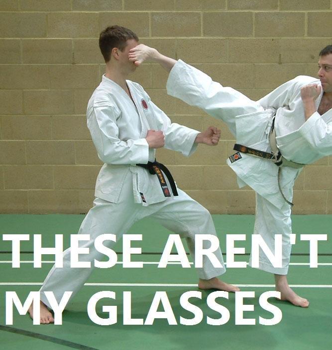 Glasses. not his glasses. glasses Not his