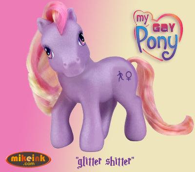 Glitter Shitter. .. its lame, its gay, its boring. im not amused. pony gay glitter