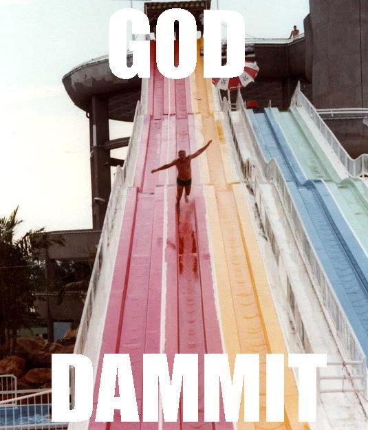 GOD DAMMIT. first post yay. god dammit slide