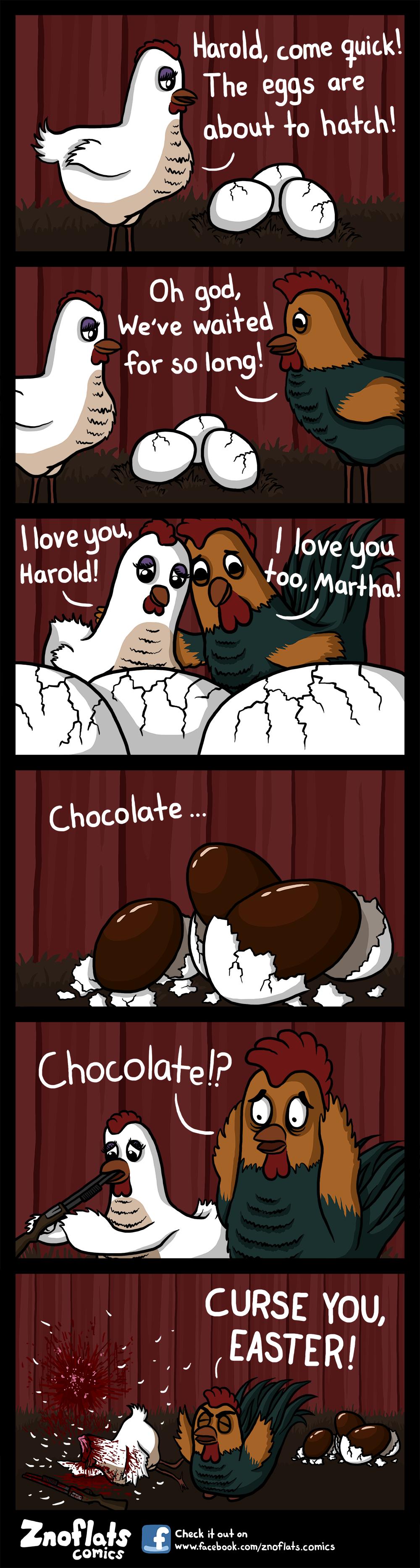 Godis är fan gött asså. A bit late easter comic for you guys to enjoy. Happy easter! www.facebook.com/Znoflats.Comics.. chocolate? chocolate?! CHOCOLATE?!?! Znoflats Easter Eggs chocolate nigger