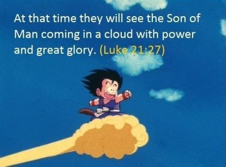 Goku the savior. .. Goku is Love Goku is Peace Goku Bible