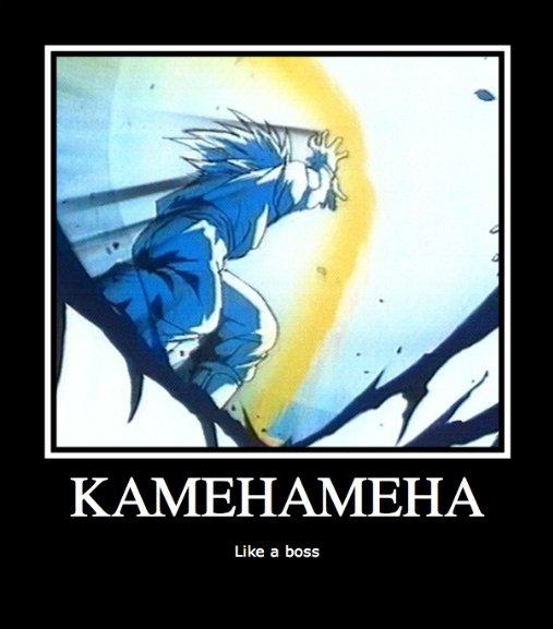 Goku is a boss. not like a boss, Goku is the boss.. liie. gay Goku kamehameha