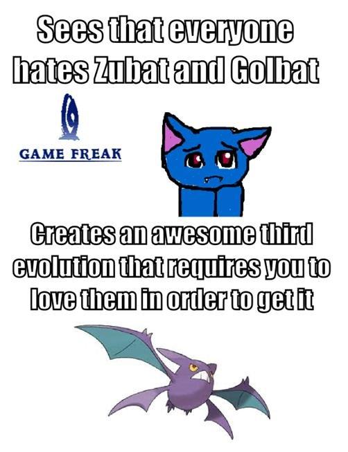 Good guy gamefreak. crobat <3. rariry) GAME FREAK '' pokemon zubat cr