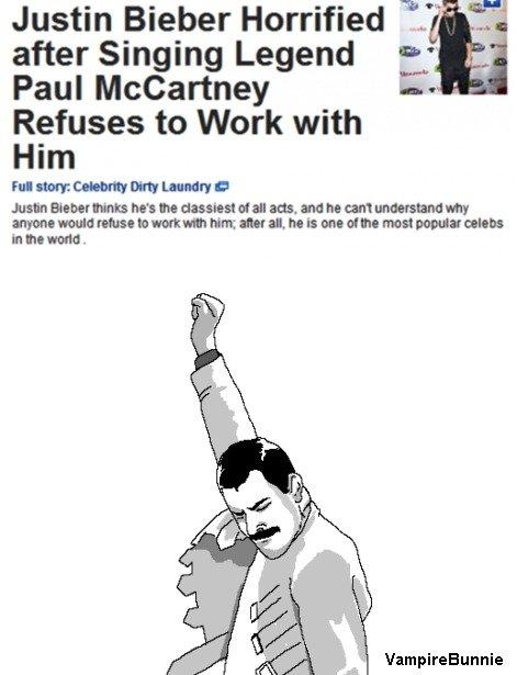 "Good Guy Paul Mccartney. . eiber II?! Justin Bieber Horrified M. #4 after Singing Legend H"" Paul McCartney E- Refuses to Work with Him mam Henrik!!! his In of a Faithrestored Beiber JustinBeiber beliebers SirPaulMccartney Beatles queen Freddie funny"