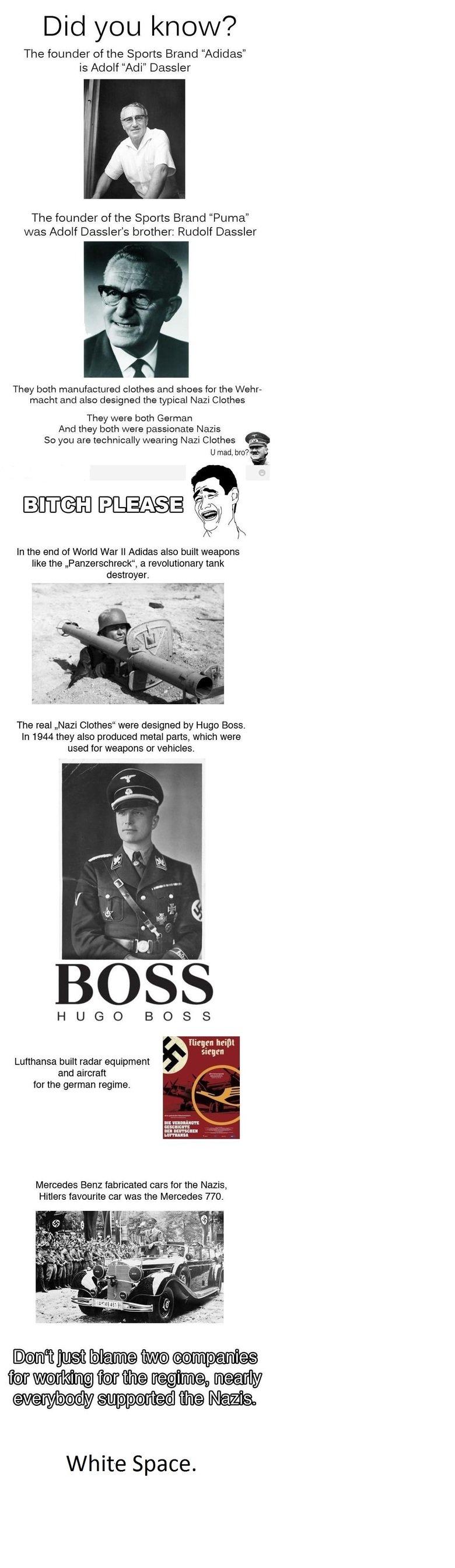 Good ol' sibling rivalry. Like a Boss! Deal with it... Panzerschreck = tank destroyer panzer - tank schreck - destroyer SCHRECK Not mein durrr