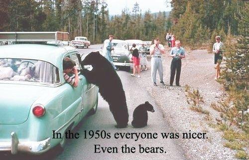 Good Old Days. .. Unless you were a . Bear car