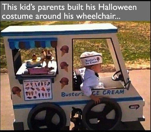 Good parenting. . This kid' s parents built his Halloween Sodomy fist Ranger