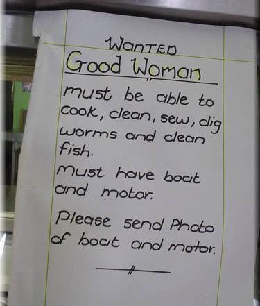 Good woman wanted. . Good woman wanted