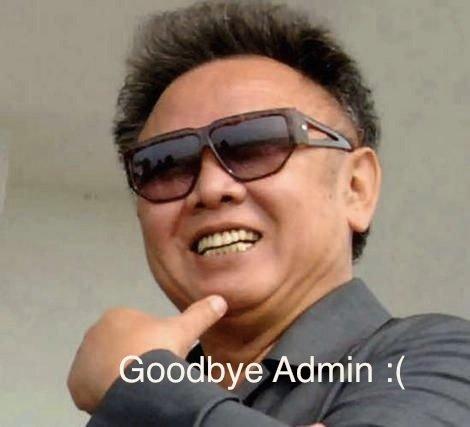 Goodbye Admin. . Goodbye Admin